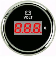 Цифровой вольтметр с нержавеющим ободком черный Арт Skipper 800-00154