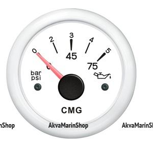 Указатель давления масла белый с белой окантовкой WEMA Арт KMG 510027