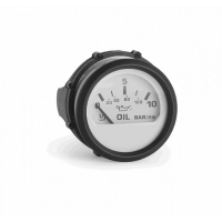 Указатель давления масла белый с черной окантовкой 12/24V UFLEX 60546Y Арт Akva 1193
