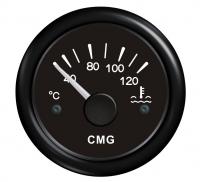 Указатель температуры двигателя черный с черной окантовкой WEMA Арт KMG 510018