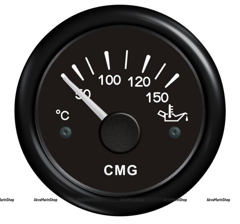 Указатель температуры масла чёрный с чёрной окантовкой WEMA Арт KMG510022