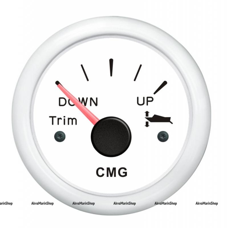 Указатель трима белый с белой окантовкой с горизонтальной шкалой WEMA Арт KMG510021