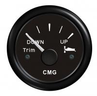 Указатель трима черный с черной окантовкой с горизонтальной шкалой WEMA Арт KMG510020