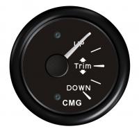 Указатель трима чёрный с чёрной окантовкой с вертикальной шкалой WEMA Арт KMG510024