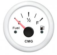 Указатель уровня топлива белый с белой окантовкой 0-190 Ом WEMA Арт CMG 510013