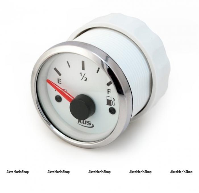 Указатель уровня топлива белый с белым ободком, цифровой 0-190 ОМ, KUS Арт WM KY10308