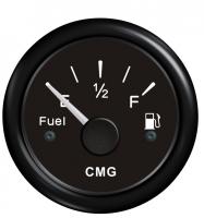 Указатель уровня топлива чёрный с чёрной окантовкой 0-190 Ом WEMA Арт CMG 510012