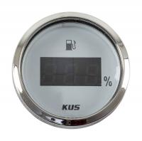 Указатель уровня топлива цифровой 4-20 мА с белым циферблатом и нержавеющим ободком д. 52 мм Арт VDNJMV00281_KY10113