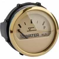 Указатель уровня воды, бежевый циферблат/золотой ободок, 12/24V, Ø52мм (UFLEX, США) 62067K Арт Akva 1214