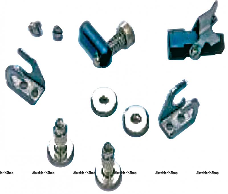 Установочный комплект  соединения тросов газа-реверса на моторы Volvo penta, Mavimare, Италия Арт KMG 630018