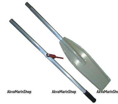 Весло катерное разборное с уключиной лопасть алюминиевая длина 195 см Арт Vial