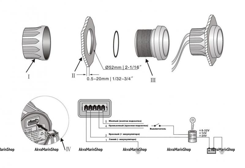 Вольтметр белый с белой окантовкой аналоговый WEMA Арт KMG 510017
