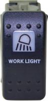"""Выключатель клавишный """"палубное освещение"""" черный  Арт Skipper S1+WL-B"""