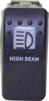 """Выключатель клавишный """"прожектор"""" черный  Арт Skipper S1+HB-B"""