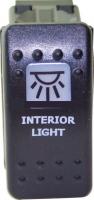 """Выключатель клавишный """"внутреннее освещение"""" черный Арт Skipper S1+IL-B"""