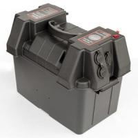Ящик для аккумуляторной батареи 325*185*200 мм с вольтметром и гнездом прикуривателя Арт CMG 310173