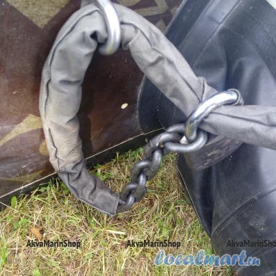 Закаленная цепь повышенной прочности с размером звена 10 мм длина 3 метра