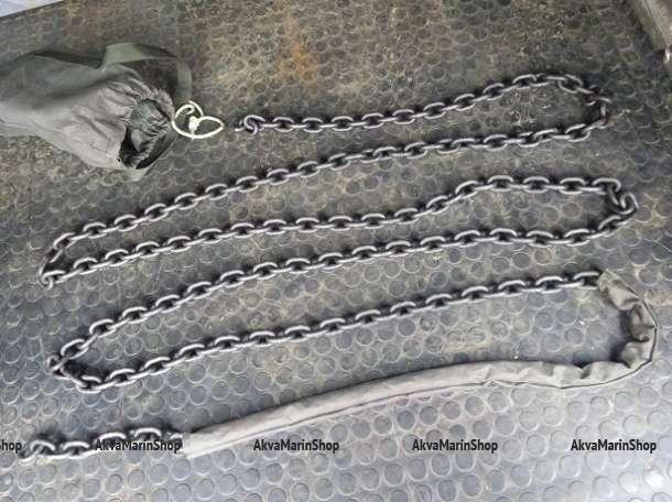 Закаленная цепь повышенной прочности с размером звена 8 мм длина 5 метров