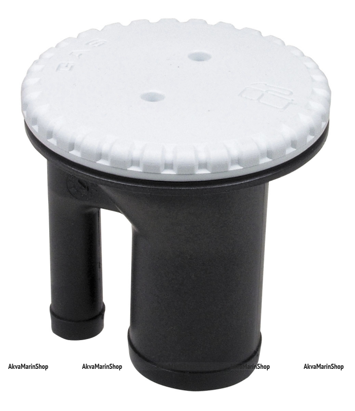 Заливная горловина топливная пластиковая прямоточная чёрная с вентиляцией (GAS) 38 мм. Арт CMG 410289