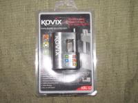 Замок с сигнализацией  Kovix  с батарейкой CR 2 Задвижка 12 мм Арт Kovix KBL 12